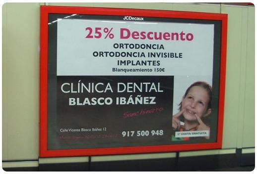 clínica dental Blasco Ibañez ejemplo